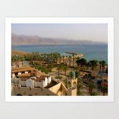Israel & Jordan on the Gulf of Aqaba Art Print