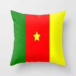 Flag of Cameroon Throw Pillow