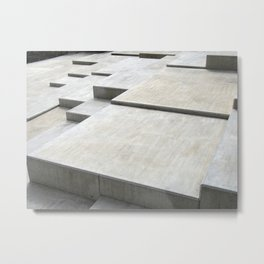 concrete geometry - modernist abstract 1 Metal Print