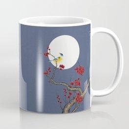 Plum blossoms, bird and the moon Type H (Minhwa: Korean traditional/folk art) Coffee Mug