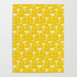 Yellow medow - Fabric/wallpaper pattern Poster