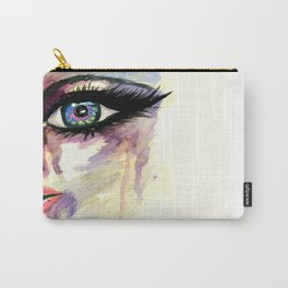 Grunge face part Carry-All Pouch