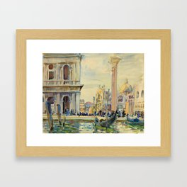 John Singer Sargent - The Piazzetta.Venice Framed Art Print