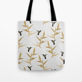 Hummingbird & Flower II Tote Bag