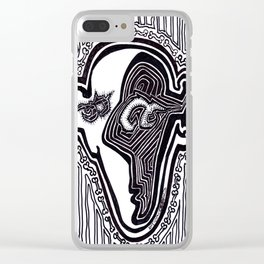 Face with Small Dancing Dog Bones Clear iPhone Case