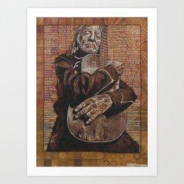Willie's Guitar Art Print