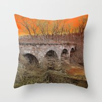 virginia Throw Pillows featuring Virginia Bridge by Andooga Design