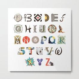 A-Z Art History Metal Print