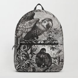 Vintage Love Parrots Backpack