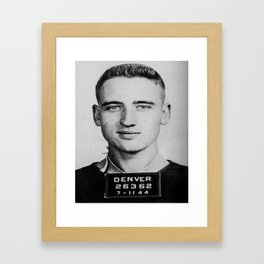 Neal Cassady Mug Shot (Front) Framed Art Print