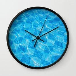 Pool Haze Wall Clock
