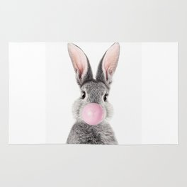 Bunny With Bubble Gum Rug