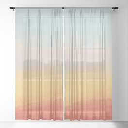 Ceramic Sunset // Multi Color Speckled Drip Summer Beach California Surf Vibes Wall Hanging Design Sheer Curtain