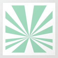 Mint Starburst Art Print