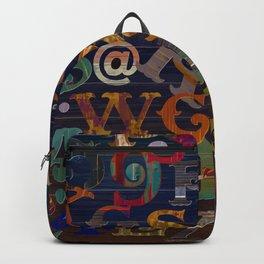 Vintage Alphabet Backpack