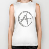anarchy Biker Tanks featuring Anarchy by Collectivo 2