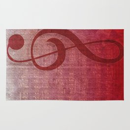 Red Pink Grunge Music Sounds Rug