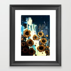 Blooming by the Glacier Framed Art Print