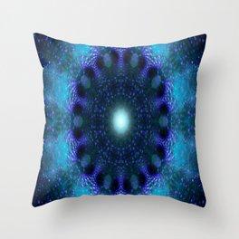 Star Factory (blue) Throw Pillow