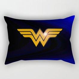 WonderWoman emblem insígnia Wonder Gold, Diana Prince, warrior princess of the Amazons Rectangular Pillow