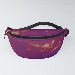 Glowing Purple - White - Carmin Abstract Vector Texture Fanny Pack