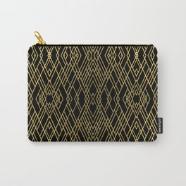 Art Deco Gold Carry-All Pouch