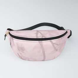Flower branches on a pastel pink background - spring mood Fanny Pack