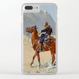 "Frederic Remington Western Art ""The Advance Guard"" Clear iPhone Case"
