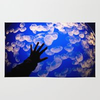 the life aquatic Area & Throw Rugs featuring Life Aquatic by Michelle Fay