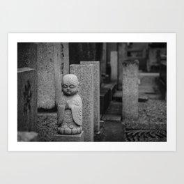 Little stone buddha Art Print