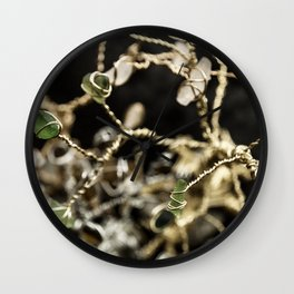 Entangled Glass Wall Clock