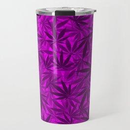 Marijuana leaves (purple) Travel Mug