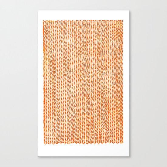 Stockinette Orange Canvas Print