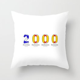 2000 - NAVY - My Year of Birth Throw Pillow
