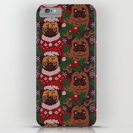 Christmas Party With The Pug iPhone Case