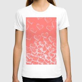 Pretty Hearts lachs T-shirt