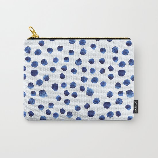 Blue brushstrokes Carry-All Pouch