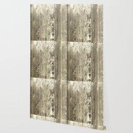 Bleached Wood Wallpaper