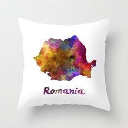 Romania in watercolor Throw Pillow