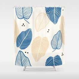 Leaves - Mid Century Pattern Shower Curtain