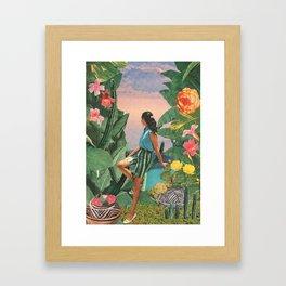 Botanical Cove Framed Art Print
