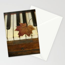 Maple Leaf and Piano Stationery Cards