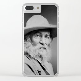 Walt Whitman Portrait Clear iPhone Case