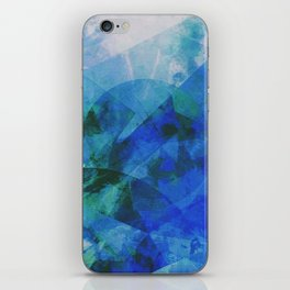 Precipice in Blue XXI iPhone Skin