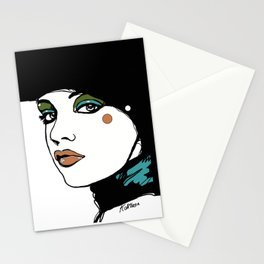 Green Eyeshadow  Stationery Cards