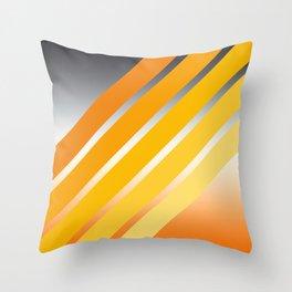 Orange Striped Gradient Throw Pillow