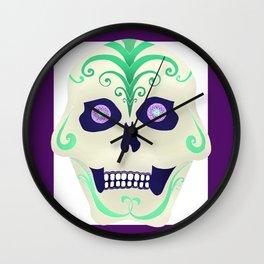 Sugar Skull with Jeweled Eyes Wall Clock