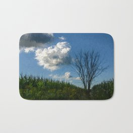 Landscape Countryside Painting Style Bath Mat