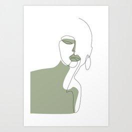Looking Green Art Print