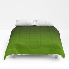 Dark Rich Forest Green Ombre Comforters